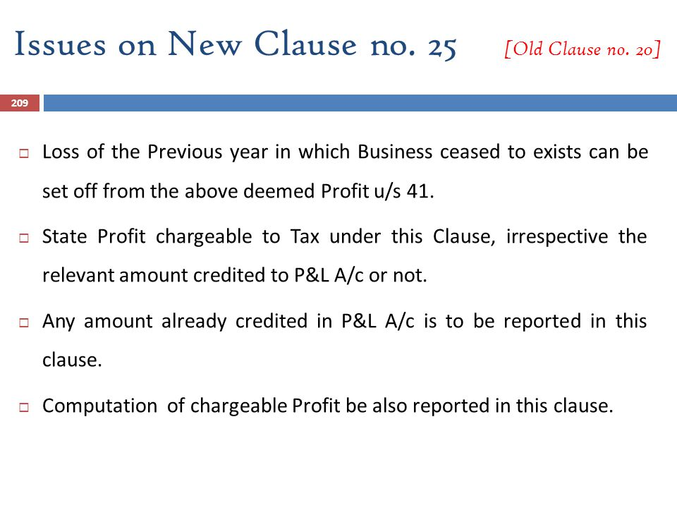 Issues on New Clause no. 25 [Old Clause no. 20]